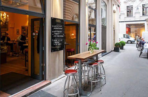 Weinbar außen: Das Weincabinet im Herzen Wiens